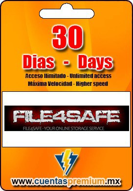 Cuenta Premium de FILE4SAFE de 30 Dias