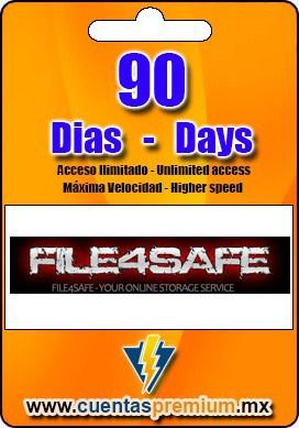 Cuenta Premium de FILE4SAFE de 90 Dias