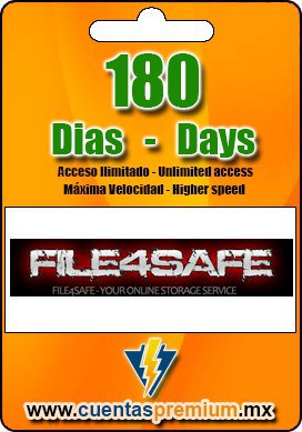 Cuenta Premium de FILE4SAFE de 180 Dias