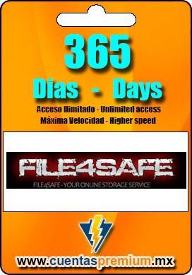 Cuenta Premium de FILE4SAFE de 365 Dias