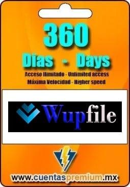 Cuenta Premium De Wupfile De 360 Días